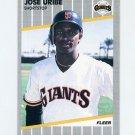 1989 Fleer Baseball #345 Jose Uribe - San Francisco Giants