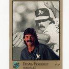 1992 Studio Baseball #223 Dennis Eckersley - Oakland Athletics