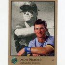 1992 Studio Baseball #193 Scott Fletcher - Milwaukee Brewers