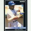 1992 Pinnacle Baseball #092 Greg Vaughn - Milwaukee Brewers