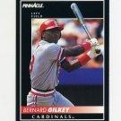 1992 Pinnacle Baseball #088 Bernard Gilkey - St. Louis Cardinals