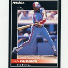 1992 Pinnacle Baseball #058 Ivan Calderon - Montreal Expos