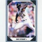 1991 Leaf Baseball #417 Dave Stewart - Oakland Athletics