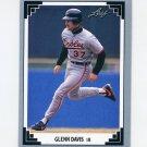 1991 Leaf Baseball #398 Glenn Davis - Baltimore Orioles