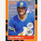 1988 Donruss Baseball's Best #306 Glenn Wilson - Seattle Mariners