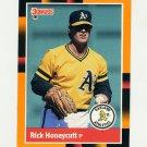 1988 Donruss Baseball's Best #211 Rick Honeycutt - Oakland Athletics