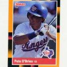 1988 Donruss Baseball's Best #167 Pete O'Brien - Texas Rangers