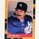 1988 Donruss Baseball's Best #161 Rick Rhoden - New York Yankees