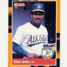 1988 Donruss Baseball's Best #155 Stan Javier - Oakland Athletics