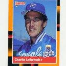 1988 Donruss Baseball's Best #151 Charlie Leibrandt - Kansas City Royals