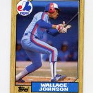 1987 Topps Baseball #588 Wallace Johnson - Montreal Expos