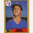 1987 Topps Baseball #044 Greg Harris - Texas Rangers