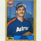 1987 Topps Traded Baseball #077T Dave Meads - Houston Astros