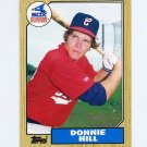 1987 Topps Traded Baseball #047T Donnie Hill - Chicago White Sox