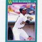 1991 Score Baseball #194 Willie Randolph - Oakland Athletics