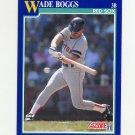 1991 Score Baseball #012 Wade Boggs - Boston Red Sox
