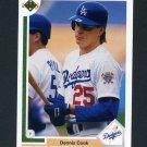 1991 Upper Deck Baseball #612 Dennis Cook - Los Angeles Dodgers