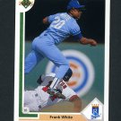 1991 Upper Deck Baseball #568 Frank White - Kansas City Royals