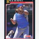 1991 Score Baseball #816 Rick Dempsey - Los Angeles Dodgers