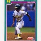 1991 Score Baseball #597 Willie McGee - Oakland Athletics