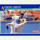 1991 Score Baseball #442 Alfredo Griffin - Los Angeles Dodgers