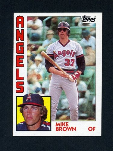 1984 Topps Baseball #643 Mike C Brown RC - California Angels
