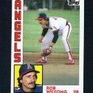 1984 Topps Baseball #079 Rob Wilfong - California Angels