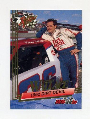 1993 Wheels Rookie Thunder Racing #074 Kenny Wallace