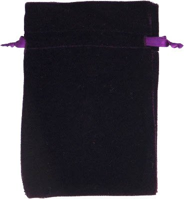 Velvet Tarot Bag - Purple - Unlined 6x9