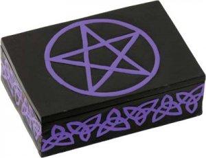 Wood Tarot Box - Celtic Pentacle