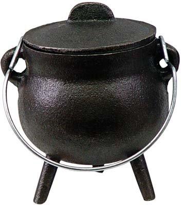Cast Iron Mini Incense Cauldron, no rings 2.5in.