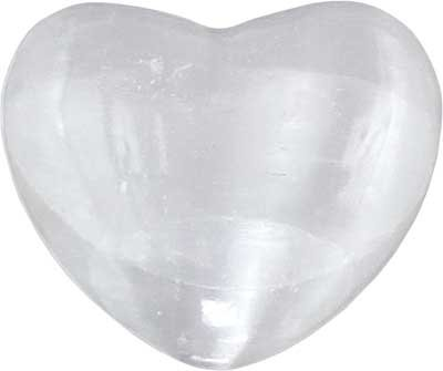 Metaphysical Selenite Gemstone Heart - 7th Crown Chakra - metaphysical