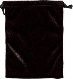 Black Velvet Unlined Tarot Bag - 6X9 - metaphysical