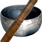 Plain Hammered Singing Bowl with Mallet - Large - metaphysical