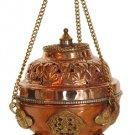 Copper and Brass Hanging Incense Burner (for granular) - metaphysical