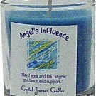 Soy Herbal Angels Influence Candle - Filled Votive Holder -Crystal Journeys Candles