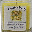 Soy Herbal Positive Energy Influence Candle - Filled Votive Holder -Crystal Journeys Candles