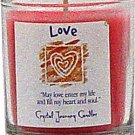 Soy Herbal Love Candle - Filled Votive Holder -Crystal Journeys Candles