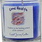 Soy Herbal Good Health Candle - Filled Votive Holder -Crystal Journeys Candles