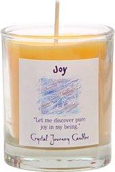 Soy Herbal Joy Candle - Filled Votive Holder -Crystal Journeys Candles