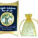 Angelic Solutions Tree of Life Golden Letters of Light Guidebook/Stones Kit -  metaphysical