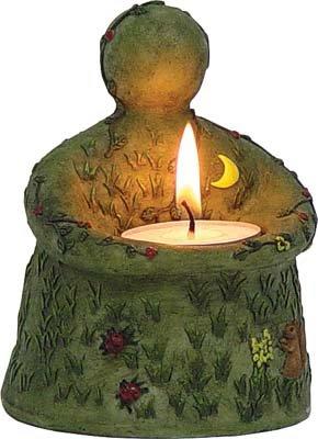 Nurturing Goddess Figurine T - Light Candle Holder - Short - metaphysical