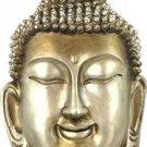 Silvery Metal Buddha Head Wall Plaque - metaphysical