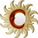 Sun and Moon Mirror - Wood - metaphysical