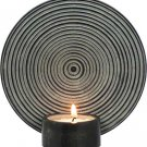 Soapstone Round Zen Wall Hanging T-Light Candleholder- Black - metaphysical
