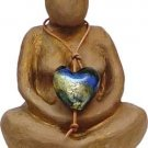 United In Love Figurine - gypsum glass heart - metaphysical