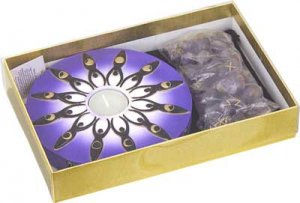 Moon Goddess Candle and Runes gift set - metaphysical