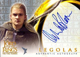 Authentic Orlando Bloom Topps Autograph Card