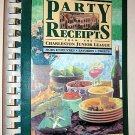 Party Receipts 1993 Charleston South Carolina Junior League Cookbook Appetizers Party Snacks