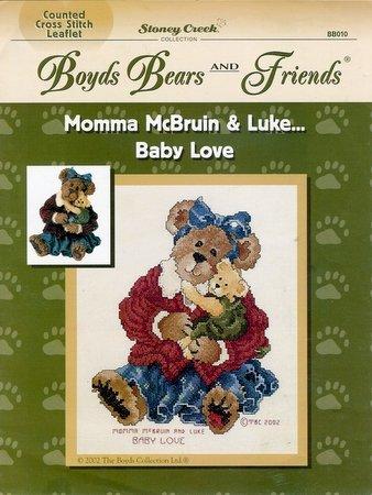 Boyd's Bears Cross Stitch Pattern Booklet Momma McBruin & Luke Baby Love